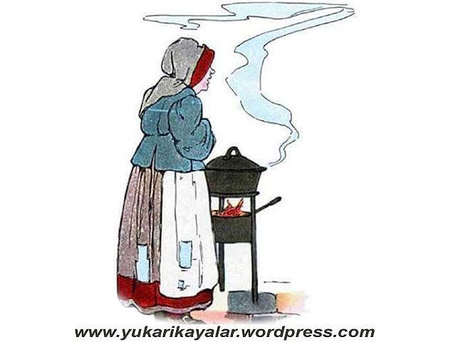 Bir annenin annece terbiyesi,yemek yapan