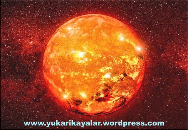 Güneş'in sıcaklığı derece