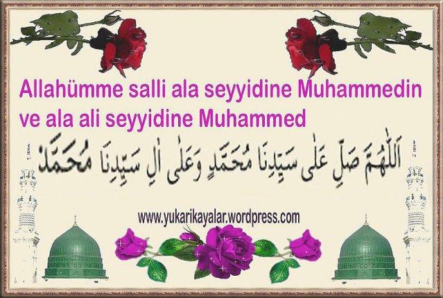 Peygamberimize (s.a.v.) okunan salât-u selâmlar ve meleklerin verdiği müjde,salavati serife,allahc3bcmme-salli-ala-muhammed-ve-ala-ali-muhammed