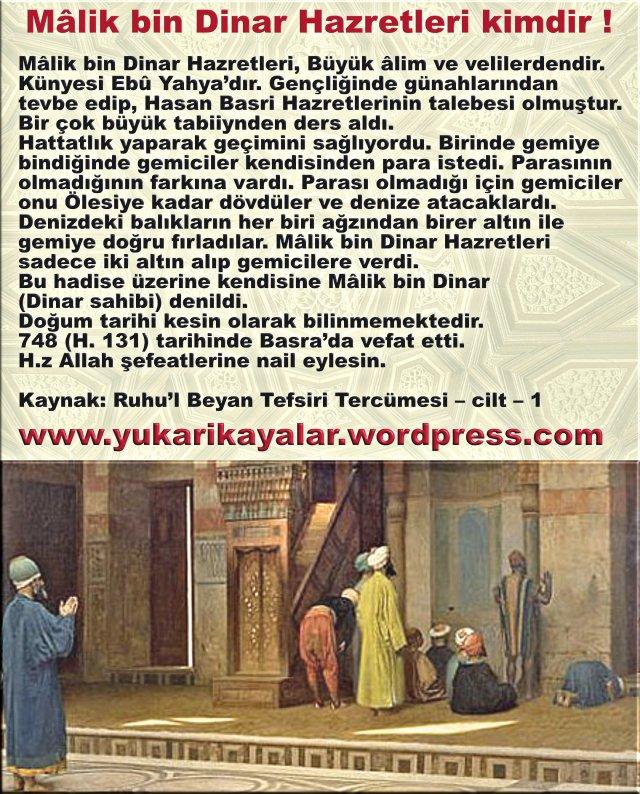 Mâlik bin Dinar Hazretleri kimdir