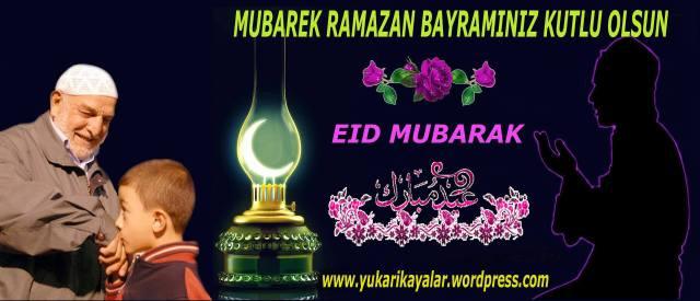 Ramazan bayramınz mübarek olsun