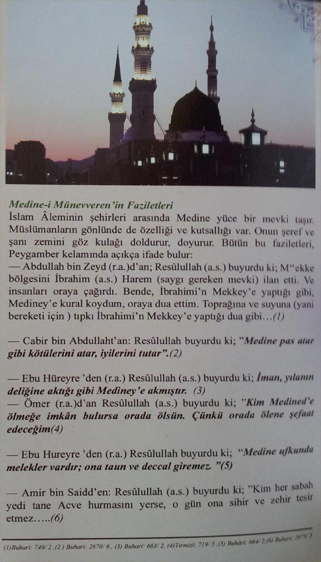 Medine-i Münevvere'nin Faziletleri