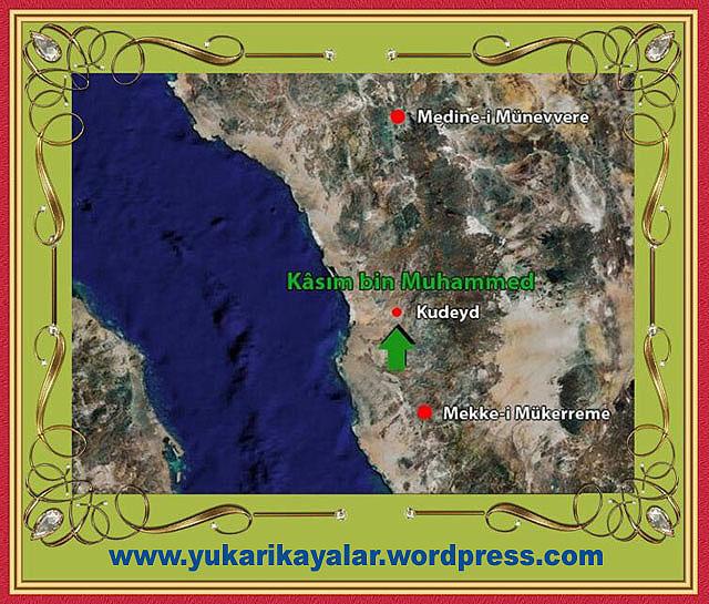 Kasım bin Muhammed, Silsile-i Saadat- Altun Silsile ,Mekke ile Medîne arasında Kudeyd denilen yerde 725 (H.106)